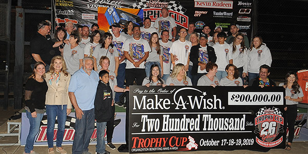 Trophy Cup 2019 Donation to Make A Wish